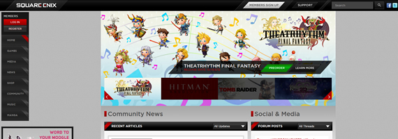 The New Square Enix Website