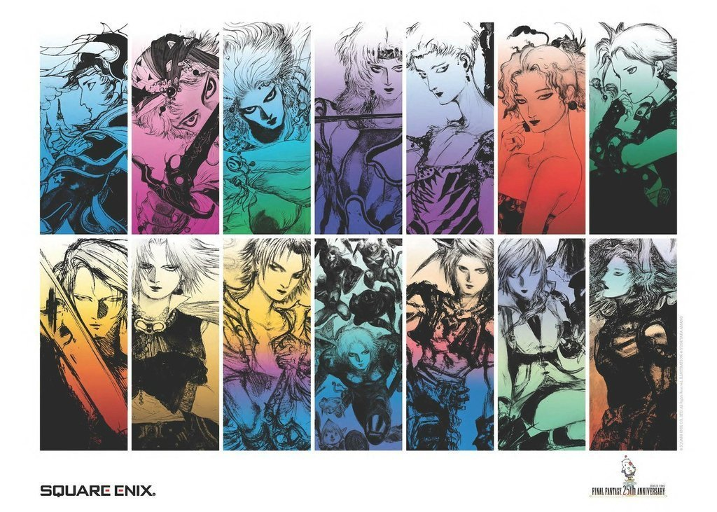 FINAL FANTASY 25th Anniversary Poster
