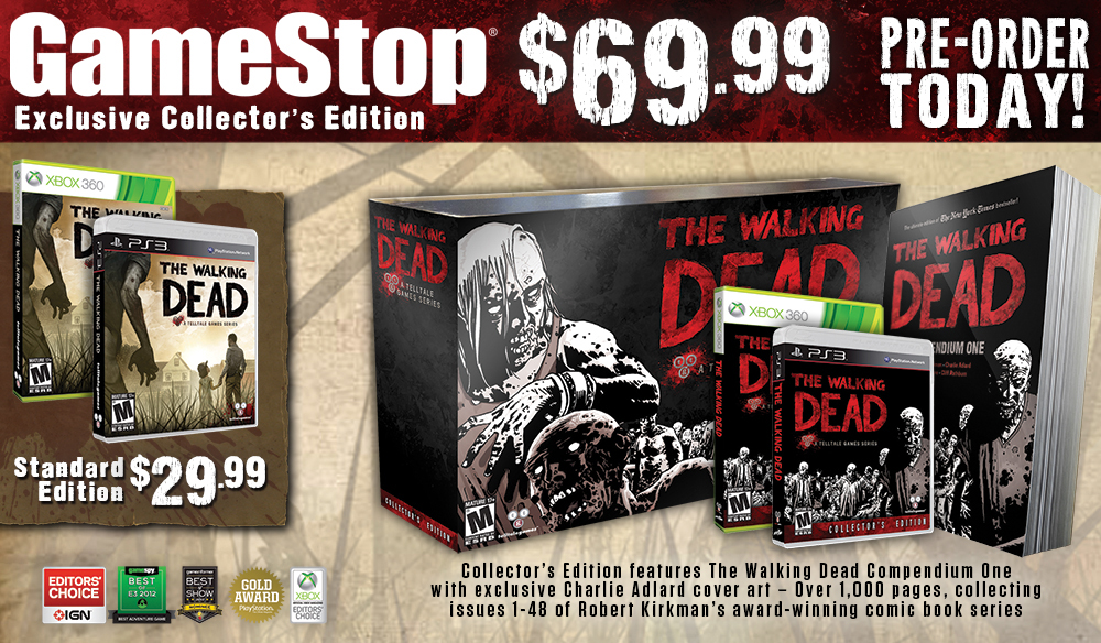 Collector's Edition Announced For Telltale Games' The Walking Dead