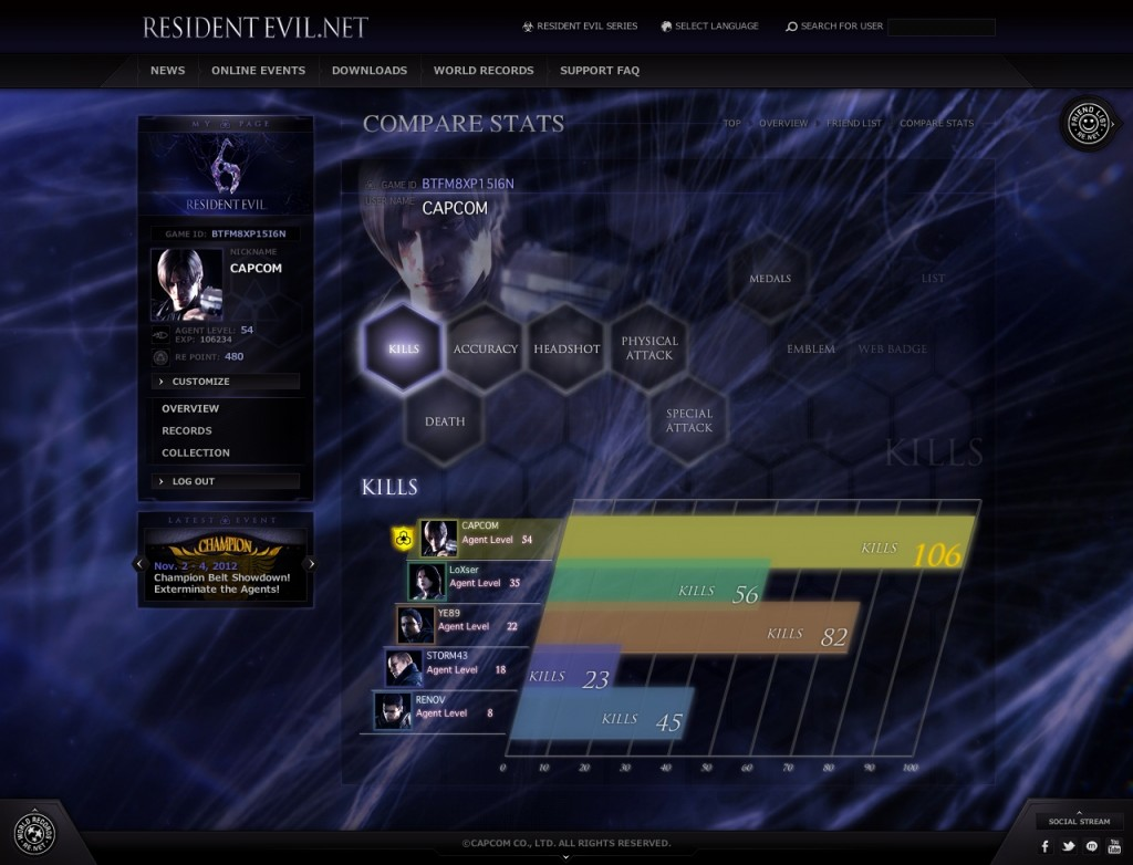 RE.net allows you to track your progress and unlock in game bonuses
