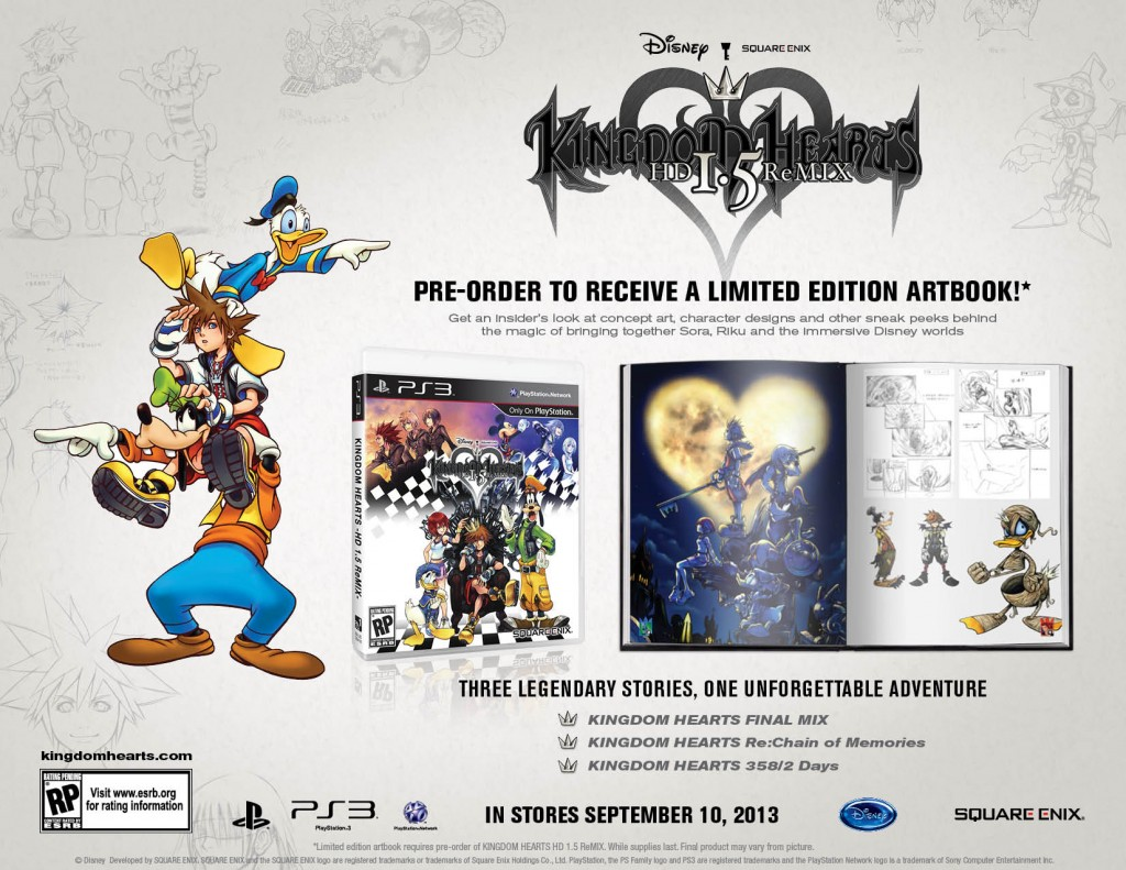 Kingdom Hearts 1.5 HD ReMIX pre-order bonus