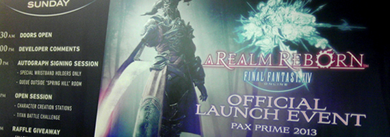 The FFXIV:ARR Launch Event At PAX 2013