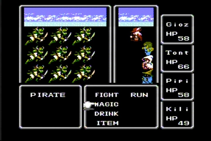 This is what the first Final Fantasy looked like!