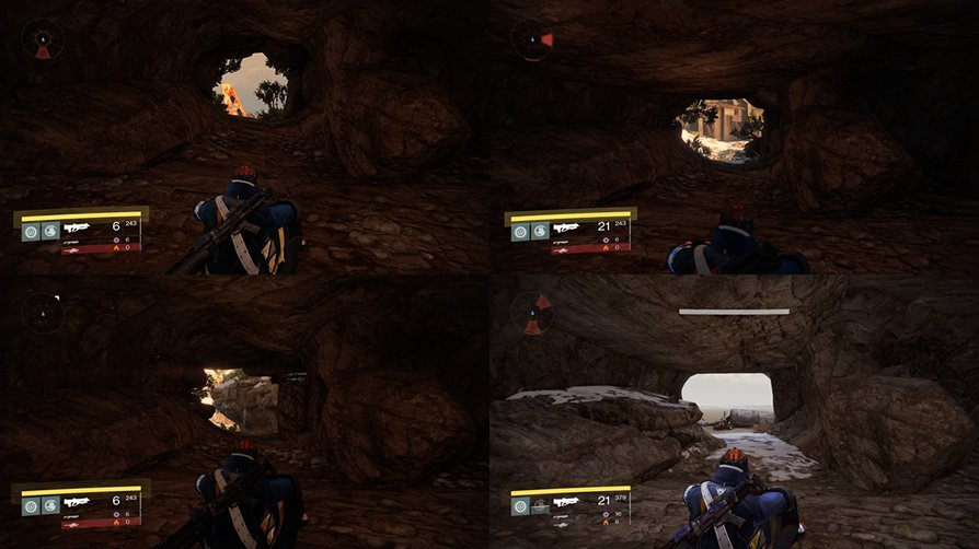 These caves in Destiny all share the same layout.