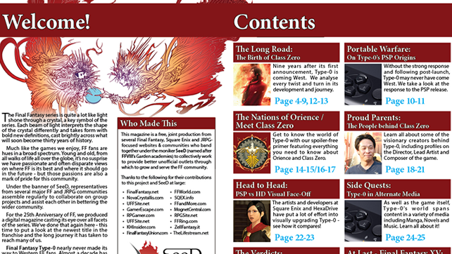 Final Fantasy Type-0 Unofficial Fan Magazine