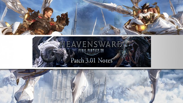 Patch 3.01 Notes