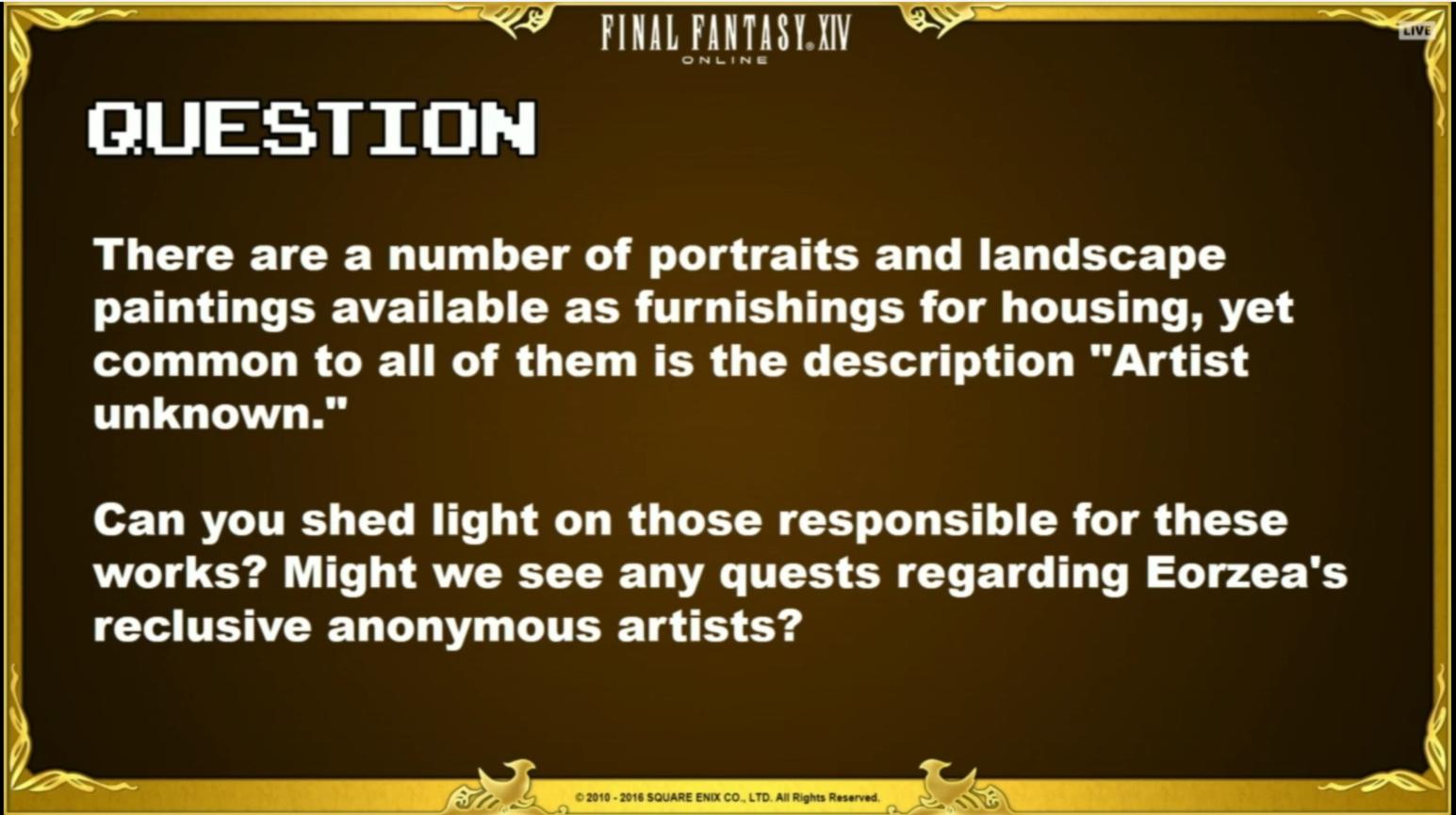 Final Fantasy XIV Day 2 – Koji Lore: Q&A – Gamer Escape