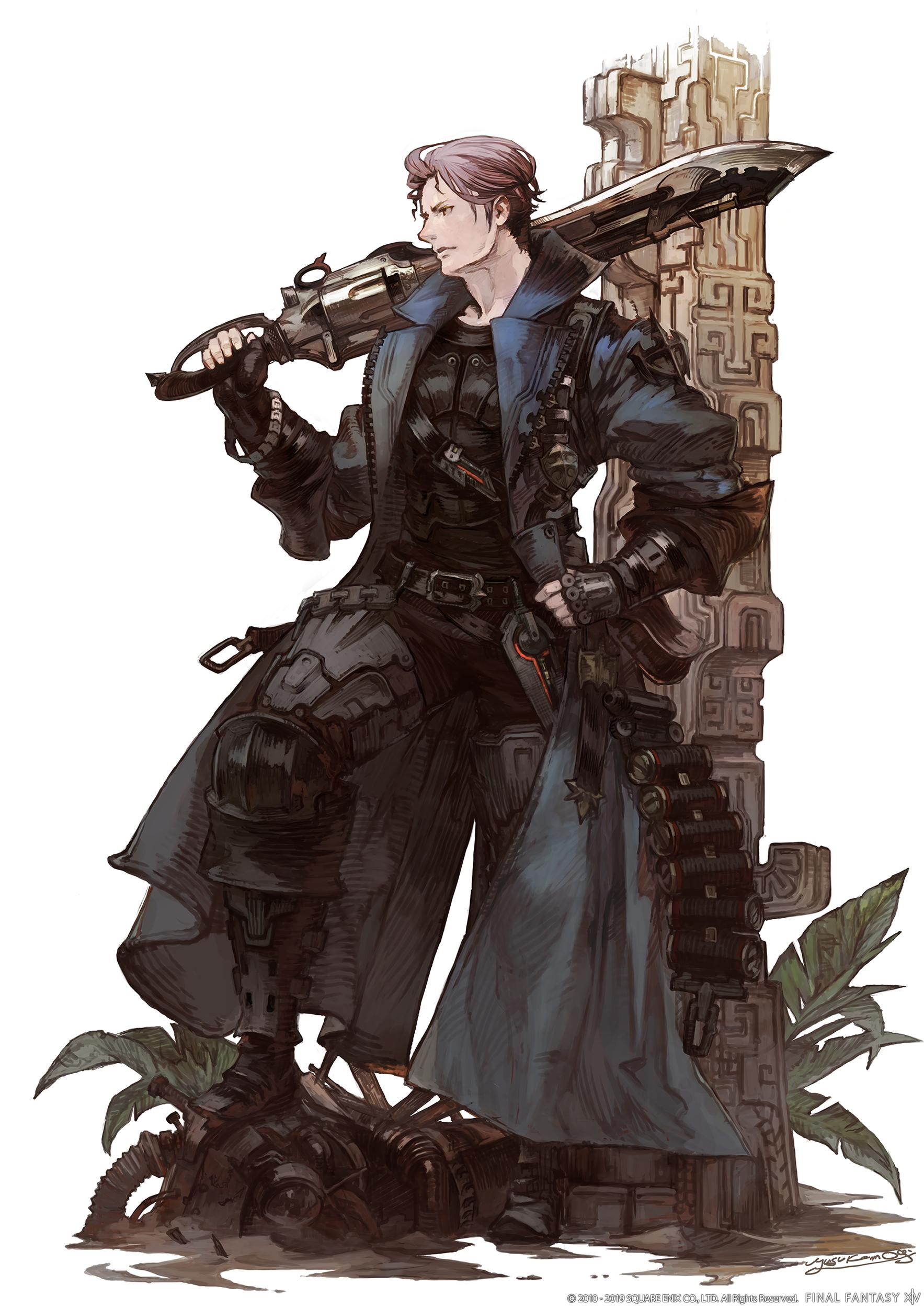 Fantasy Guy In Light Armor Concept Art
